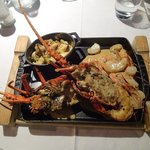 Langouste and other seafood Platter to share at Le Carre
