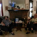 Old Friends enjoy time together in the living room
