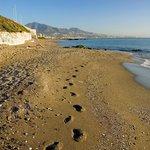 Small strip of beach at Club La Costa
