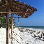 spiaggia antestante - uscita ristorante