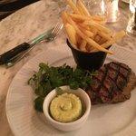 Fillet steak with garlic butter