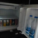 Mini fridge inside the room