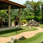 Off Course, our open aired restaurant located directly to the adventure golf course