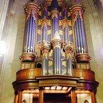 A view of the organ pipes when you enter the chapel and then look behind you.