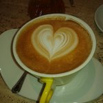 1E cappuccino at the corner bar :)