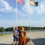 Flag Raising with Yogi Bear