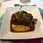 Lamb with risotto and a fantastic bouillon.