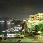Night time view of picolla marina from Il Failto private terrace