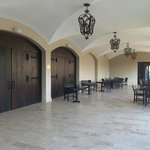 Patio by Events Suite, breakfast served here