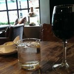 A lovely glass of Malbec at The Vintner
