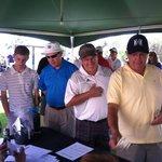 Registration at golf tournament...
