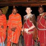 Me with the Maasai elders