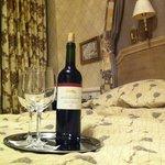 Vin offert dans l'offre
