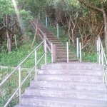 展望台へ上る階段