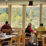 Both the food and view are wonderful at the Oaks Grille.