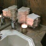 Touche personnalisée des toilettes