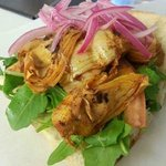 Vegan Sandwich - Purple Rain - Artichoke Hearts, Smoked Paprika, Pickled Purple Onions, Lettuce,