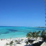 View from beach of resort