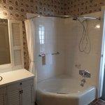 King Bed side bathroom shower/tub.... Maple Suite