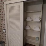 Bathroom on King bed side closet for towels... Maple Suite