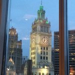 Wrigley Building view from the dining room