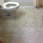 mismatched patched floor