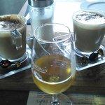 Local wine and coffee