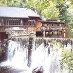 The waterfall view at Cobbs Mill Inn.