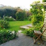 バルコニーと庭