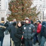 My son and me at Rockefeller Center