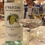 Acqua di Cedro Liquor from Bassano (like Limoncello but even better!  Smooth and light).