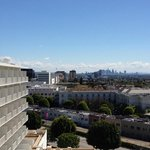 View of downtown LA from our room