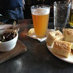 $2 happy hour olives, Pyramid here, bread