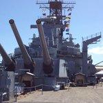 The Iowa big guns and tower