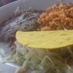 Kids beef taco plate