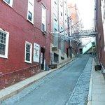 the alley where you enter