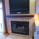 Large 2nd TV and fireplace