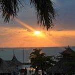 Sun going down, 2nd floor, Palms Bldg.