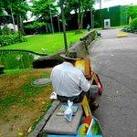 artista mostra seu talento na paz para pintar