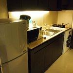 洗濯機とキッチン