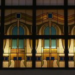 Stained-glass windows at Four Seasons - Budapest