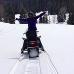 On the trail with Uinta Rec snowmobiles!