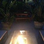 Hotel garden lounge