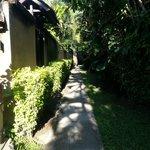 A walk to the villa