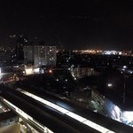 Night view (BTS) from hotel room
