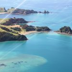 islands from helicopter Bay of Islands