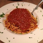 Spaghetti with meat sauce, delicious!