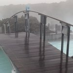 One of the bridges at the Blue Lagoon