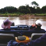 Adventure on safari as we make our through the Sand River, Sabie Sands, South Africa