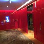 Colorful elevator area